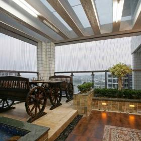 现代简约餐厅阳台花园外景案例展示