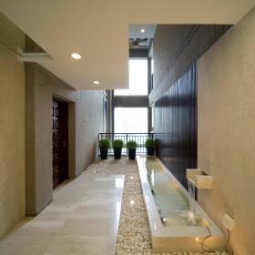 现代简约外景走廊装修案例