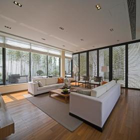 新中式客厅别墅装修案例