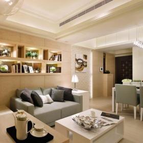 现代简约韩式客厅效果图