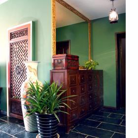 中式玄关玄关柜案例展示