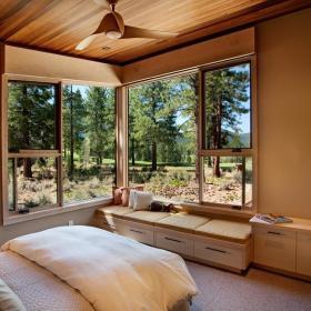 现代简约日式卧室飘窗&落地窗设计方案