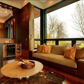 东南亚客厅飘窗&落地窗装修效果展示