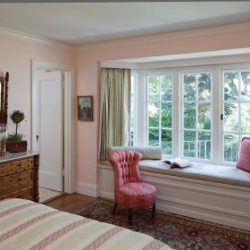 现代简约简欧卧室飘窗&落地窗图片