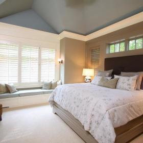现代简约后现代卧室飘窗&落地窗装修案例