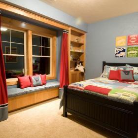 现代简约混搭卧室飘窗&落地窗设计案例