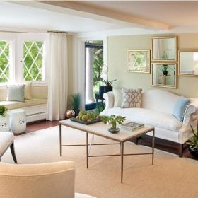欧式北欧客厅飘窗&落地窗单人沙发设计方案