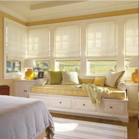 现代简约简欧卧室飘窗&落地窗设计案例展示