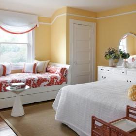 现代简约简欧卧室飘窗&落地窗装修图