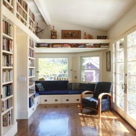现代简约简欧书房飘窗&落地窗设计案例