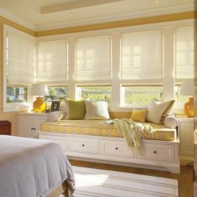 欧式卧室飘窗&落地窗装修效果展示