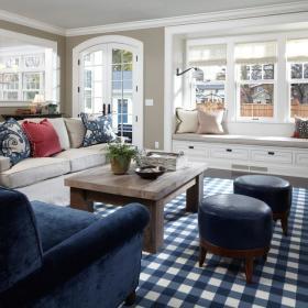 现代简约欧式简欧客厅飘窗&落地窗图片