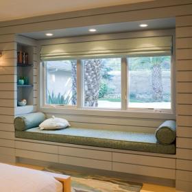 现代简约混搭卧室飘窗&落地窗设计案例展示