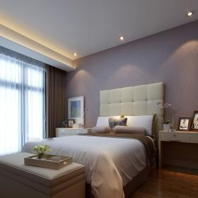 现代简约新古典卧室装修图
