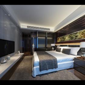 现代简约新古典卧室效果图