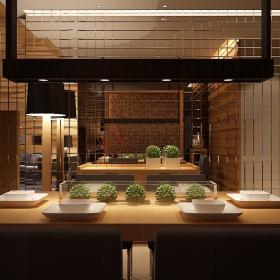 现代简约新中式餐厅装修案例