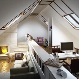 现代简约后现代客厅设计图