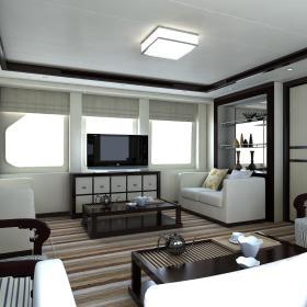 现代简约新中式客厅装修图