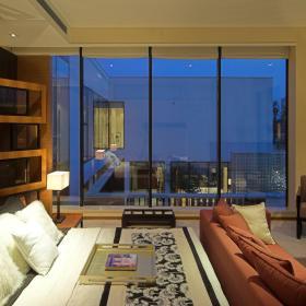 现代简约新中式客厅装修案例