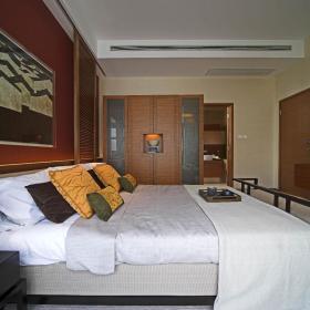现代简约新中式卧室装修图
