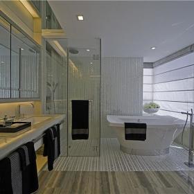 现代简约创意浴室效果图
