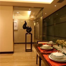 新古典新中式餐厅走廊图片