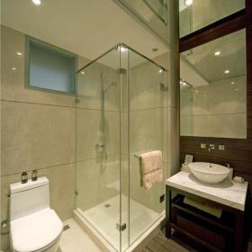 新中式卫生间效果图