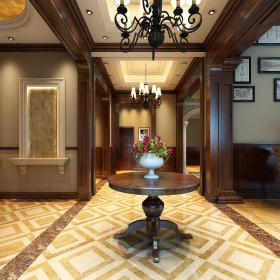 欧式玄关走廊玄关柜设计图