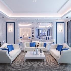 欧式明清混搭客厅设计方案
