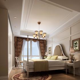 简欧卧室老人房吊顶设计案例
