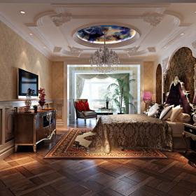 简欧洛可可卧室设计方案