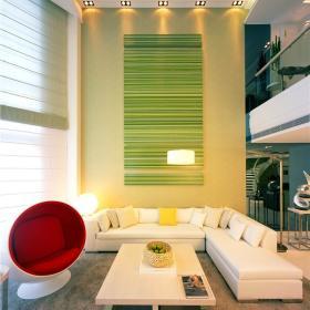 现代简约创意客厅背景墙案例展示