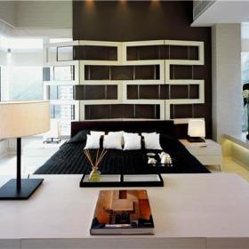 现代简约创意卧室背景墙设计图