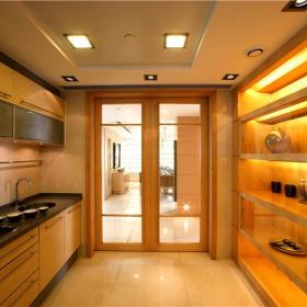 现代简约厨房隔断装修图