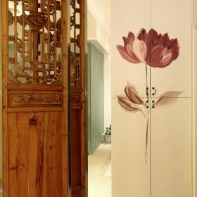 中式复古创意玄关隔断玄关柜设计案例展示