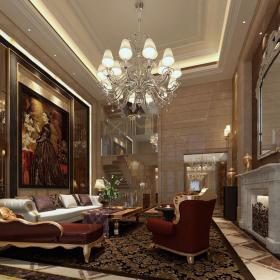 欧式客厅--高清效果图-欧式 (153)