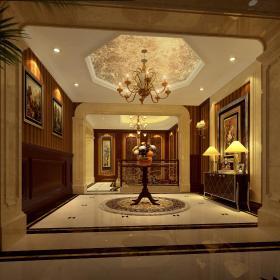 欧式玄关走廊玄关柜设计方案
