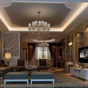 欧式客厅--高清效果图-欧式 (37)