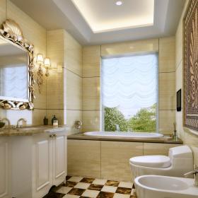 欧式卫生间浴室淋浴房设计案例