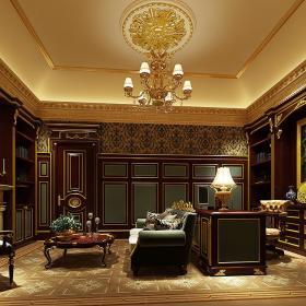 欧式美式书房设计图