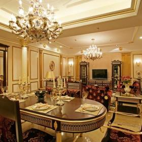 法式餐厅吊顶灯具效果图