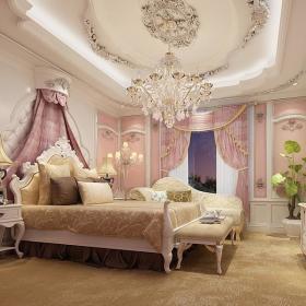 卧室吊顶窗帘台灯门窗灯具设计案例展示