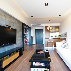 现代简约客厅沙发电视柜设计方案